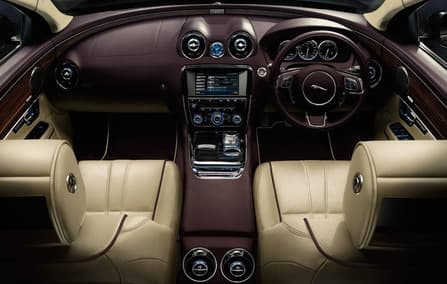 Jaguar Has Also Incorporated Four Zone Automatic Climate Control, Electric  Side Window Blinds And Footrests And Leather Covered Business Tables In  Order To ...