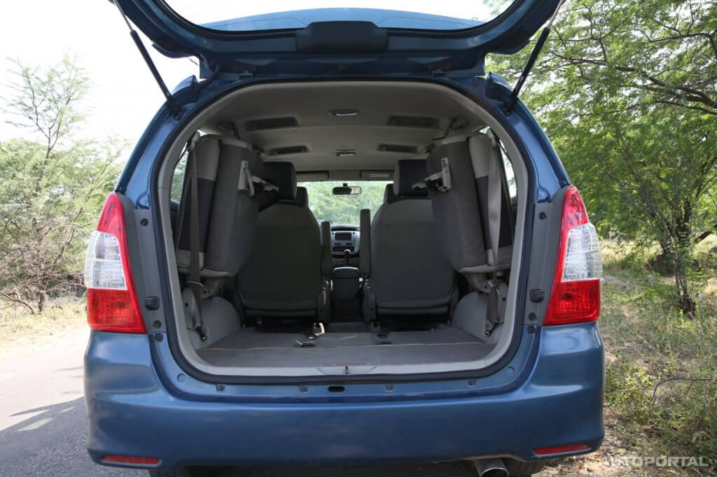 What Is The Boot Space Of Toyota Innova Question For