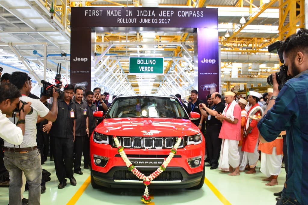 Fiat India Rolls out First Made-in-India Jeep Compass - AutoPortal