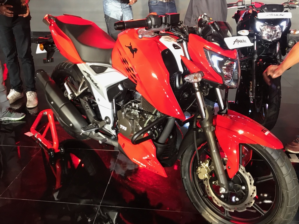 tvs apache rtr 160 4v launched at rs 81490 autoportal