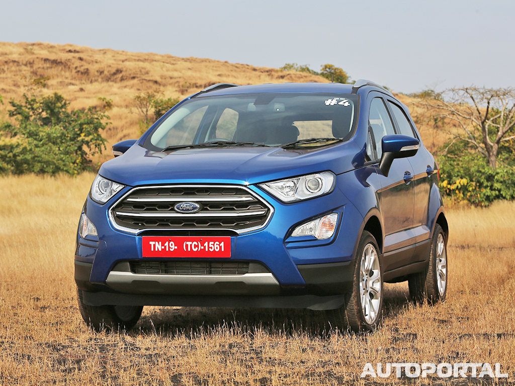 Ford ecosport now will also come packed with features like speed sensing auto door lock rear parking sensors and passenger seat belt reminder on all