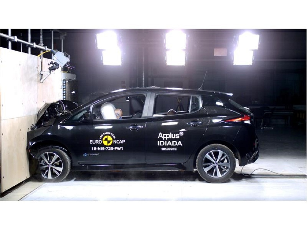 New Nissan Leaf scores top marks for safety