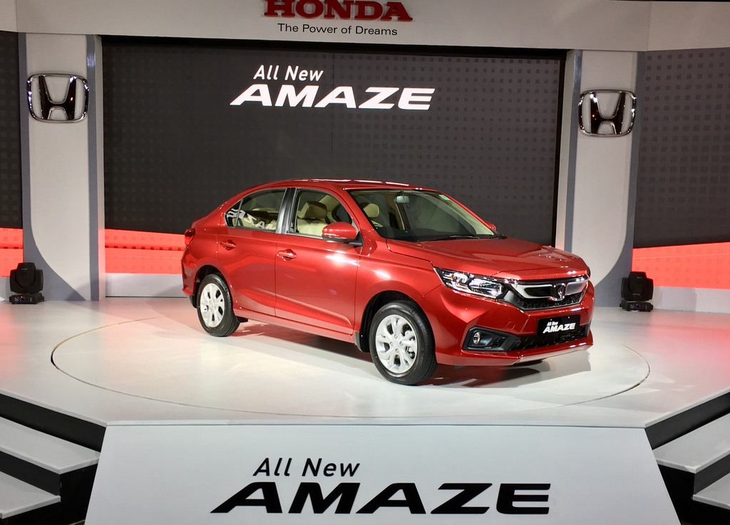 Honda Amaze launched, starts at Rs 5.59 lakh