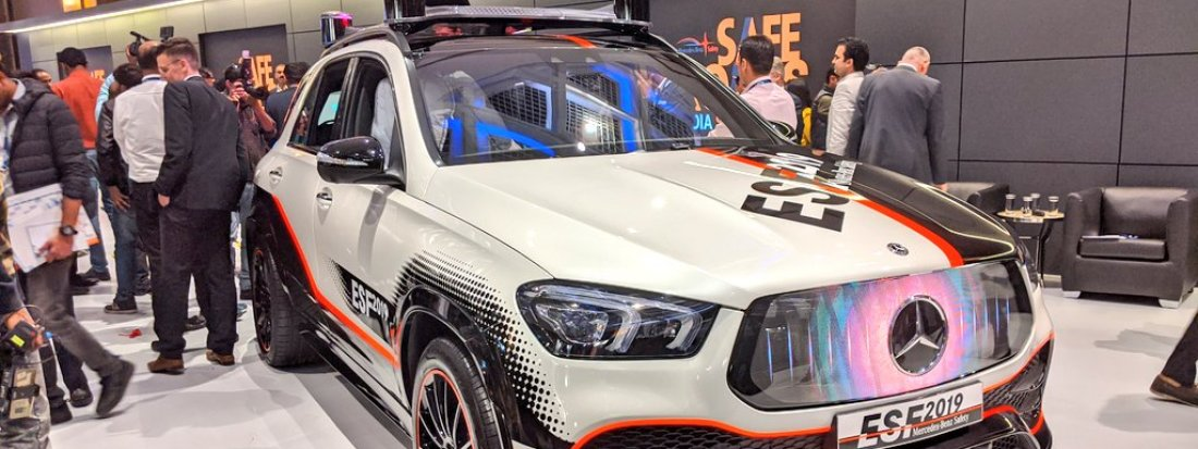 Mercedes Benz ESF 2019 Showcased at Safe Roads Summit India