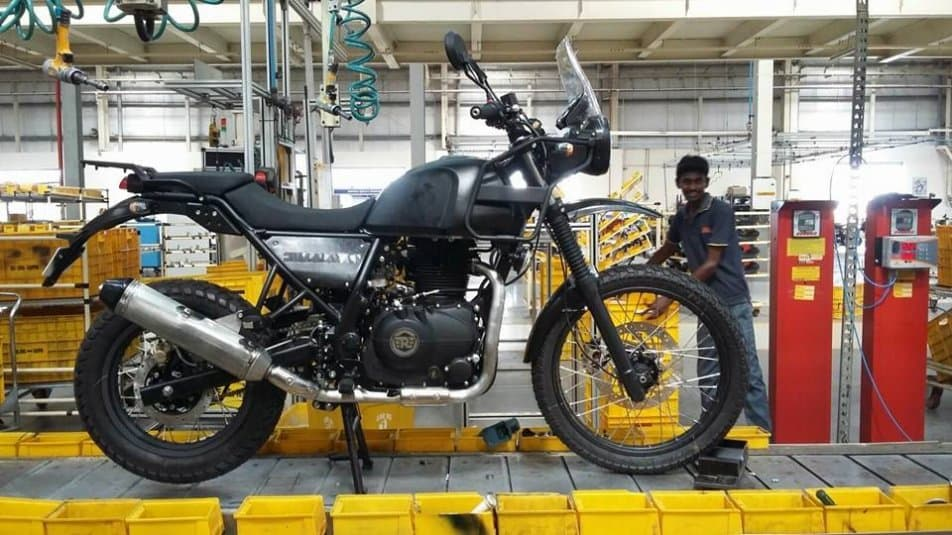 The motorcycle has been spied at various places and one of those includes RE's production line itself (its an old image though)