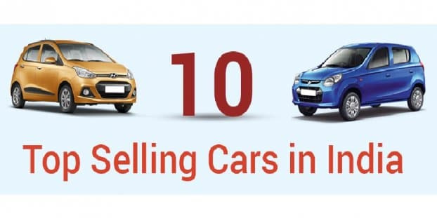 Infographic - Top 10 Selling Cars in 2015